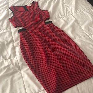 Marilyn Monroe Red cut out dress